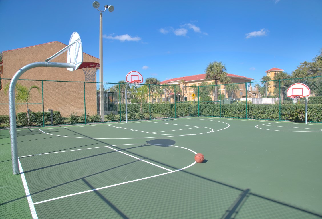 Basketball Court With 3 Hoops
